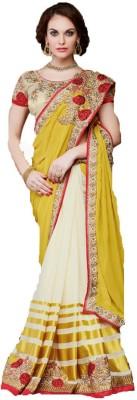 Ethnic Point Embriodered Fashion Georgette Sari