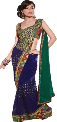 Granth Self Design Fashion Georgette Sari