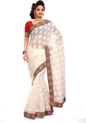 De Marca Printed Fashion Jacquard, Tissue Sari