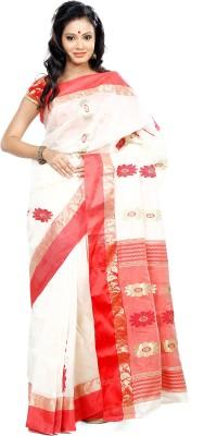 B3Fashion Self Design Garad Handloom Silk Sari