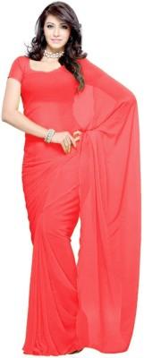 Vivera Fashion Plain Bollywood Georgette Sari
