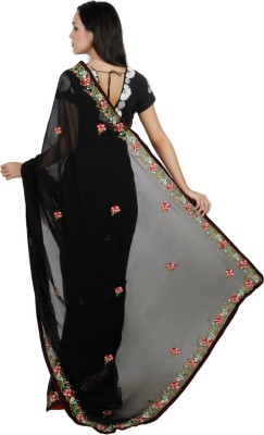 Live With Style Embriodered Fashion Georgette Sari