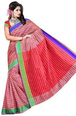Simran Fashion Embellished Fashion Handloom Silk Cotton Blend Sari