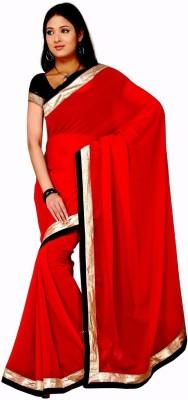Sangeetasarees Plain Daily Wear Handloom Chiffon Sari