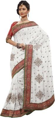 Adde Embellished, Embriodered Bhagalpuri Jacquard Sari