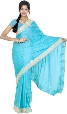 Celebez Embriodered Fashion Handloom Satin Sari
