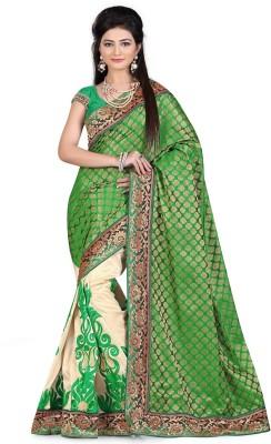 Youthmart Embriodered Chanderi Handloom Cotton Sari