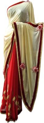 NEW LOOK DESINER Self Design Daily Wear Synthetic Sari