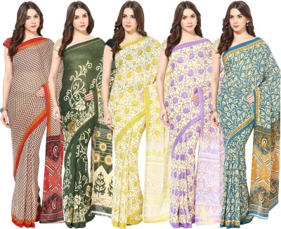 Fostelo Printed Bollywood Chiffon Sari