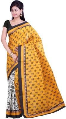 The Designer House Printed Fashion Art Silk Sari