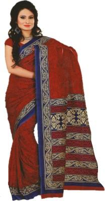 DESIGN WILLA Printed Bollywood Synthetic Crepe Sari