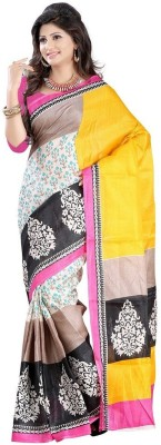 Aracruz Printed Bhagalpuri Silk Sari