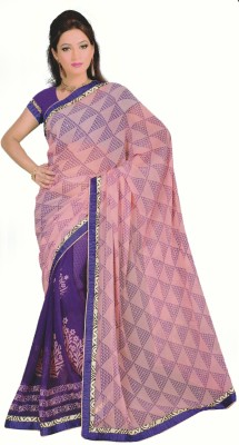 Vivels Printed Fashion Handloom Synthetic Sari