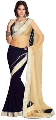 SareeBazaar Embriodered Bollywood Georgette, Net Sari