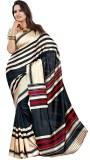 Saran Striped Fashion Art Silk Saree (Mu...