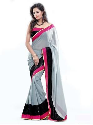 Laxmi Fashion Self Design Bollywood Chiffon Sari