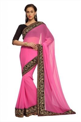 Designersareez Self Design Fashion Crepe Sari