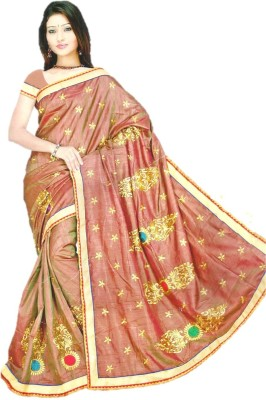 Coloursexports Embellished Bollywood Printed Silk Sari
