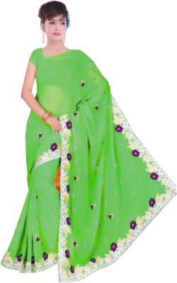 Vanshika Sarees Embriodered Fashion Georgette Sari