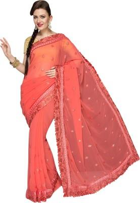 Fashionportfolio Embriodered Fashion Handloom Chiffon Sari