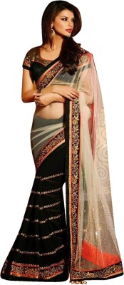 Sanjewga Collection Self Design Fashion Georgette Sari