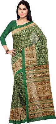 Florence Printed Fashion Khadi Saree(Multicolor) at flipkart