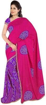 Diaonj Printed Bandhani Chiffon Sari