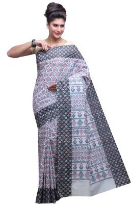 DARPS Printed Baluchari Handloom Cotton Sari