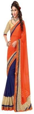 Lakshya Export Solid Fashion Georgette Sari