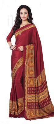 Nilu Tex Printed Fashion Handloom Crepe Sari