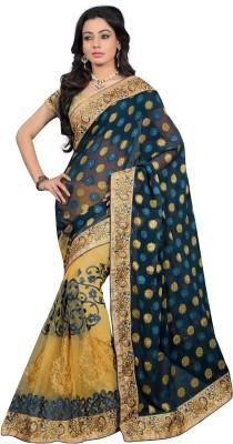 Rachaiyta Self Design Fashion Jacquard, Net Sari