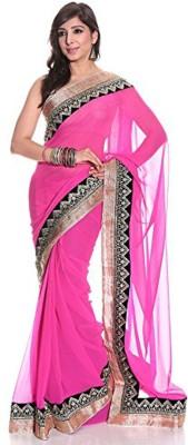 Aaditri Solid Fashion Chiffon Sari