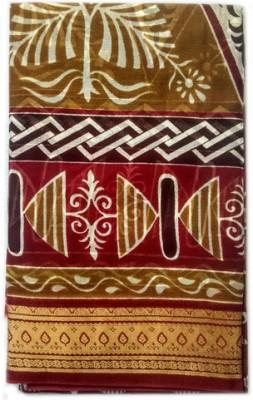 DEVI COLLECTION Printed Assam Silk Silk Sari
