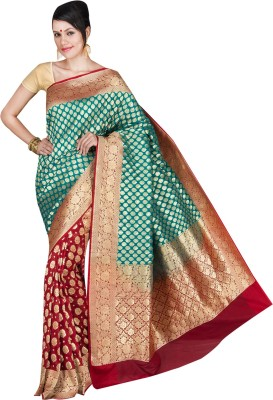 Shree Store Self Design Banarasi Handloom Chanderi Sari
