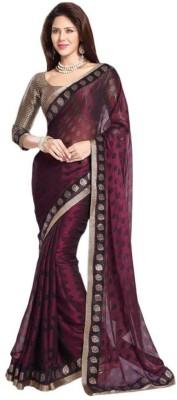Trendz Fashion Graphic Print Bollywood Brasso Fabric Sari
