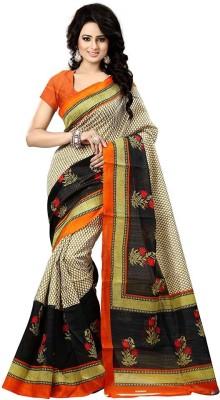 Ram Fashion Printed Bhagalpuri Khadi Sari