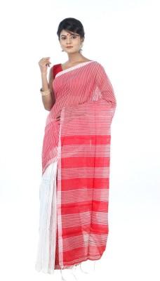 AVIK Woven Fashion Handloom Cotton, Silk, Art Silk, Silk Cotton Blend Sari