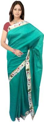SRK GROUPS Printed Chettinadu Art Silk Sari