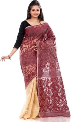 B3Fashion Solid Jamdani Cotton Sari