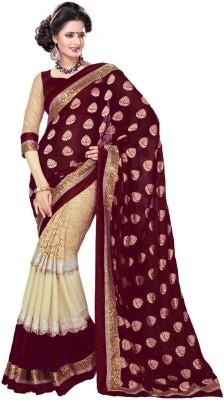 Women Villa Self Design Bollywood Georgette Sari