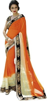 Nairiti Fashions Embriodered Fashion Pure Georgette Sari