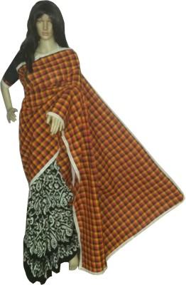 KheyaliBoutique Checkered Fashion Handloom Cotton Sari