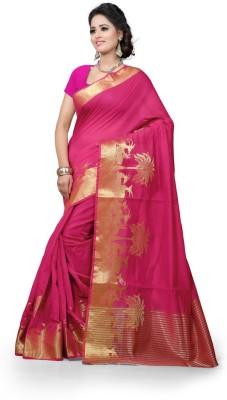 See More Self Design Banarasi Cotton Sari