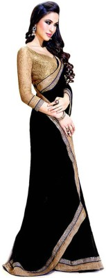 Awesome Fab Plain Fashion Chiffon Sari
