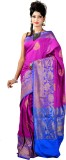 ASP Woven Banarasi Dupion Silk Saree (Ma...