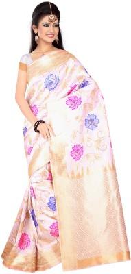The Core Fashion Floral Print Phulkari Handloom Jacquard Sari
