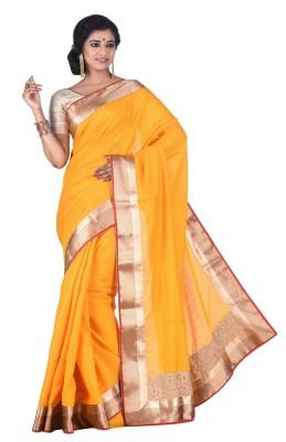 Creation Plain Fashion Silk Cotton Blend Sari