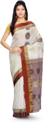 Rudrakshhh Dhakai Embriodered Garad Handloom Silk Sari