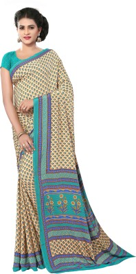 Anoha Floral Print Fashion Crepe Sari