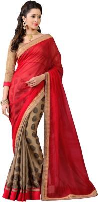 Vonage Solid, Printed Bollywood Jacquard Sari